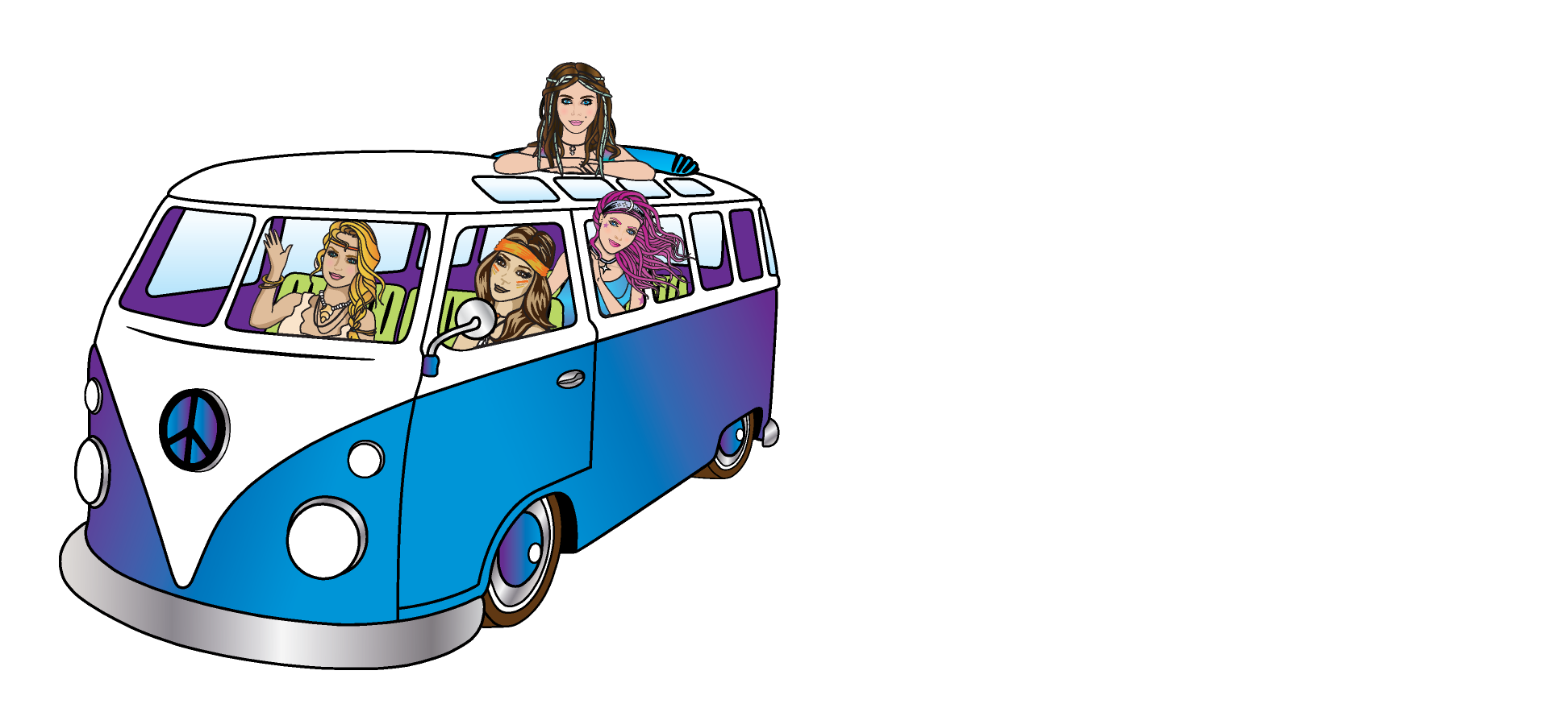 VW-Bus-hippie-chicks-bus