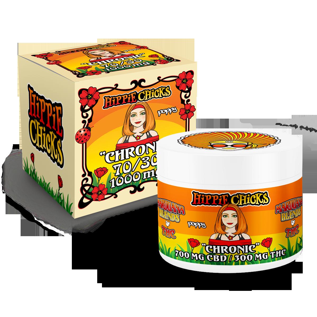hippie-chicks-pain-relief-cream-1000mg--700mg-CBD-300-mg-THC full spectrum