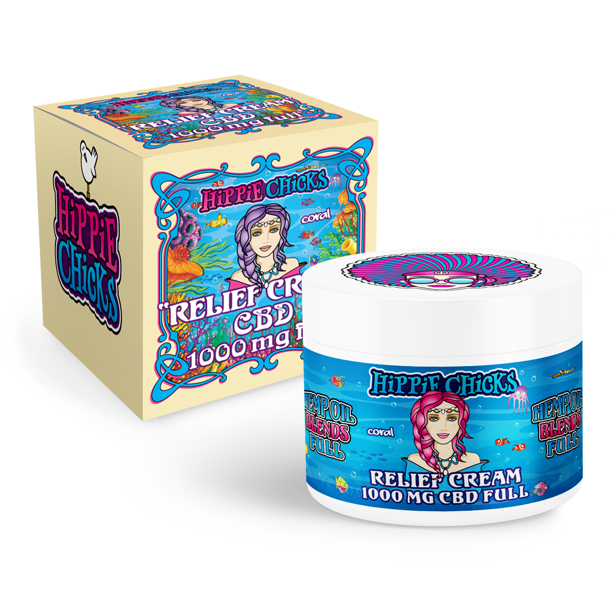 hippie-chicks-pain-relief-cream-1000mg-CBD-full-spectrum-oil