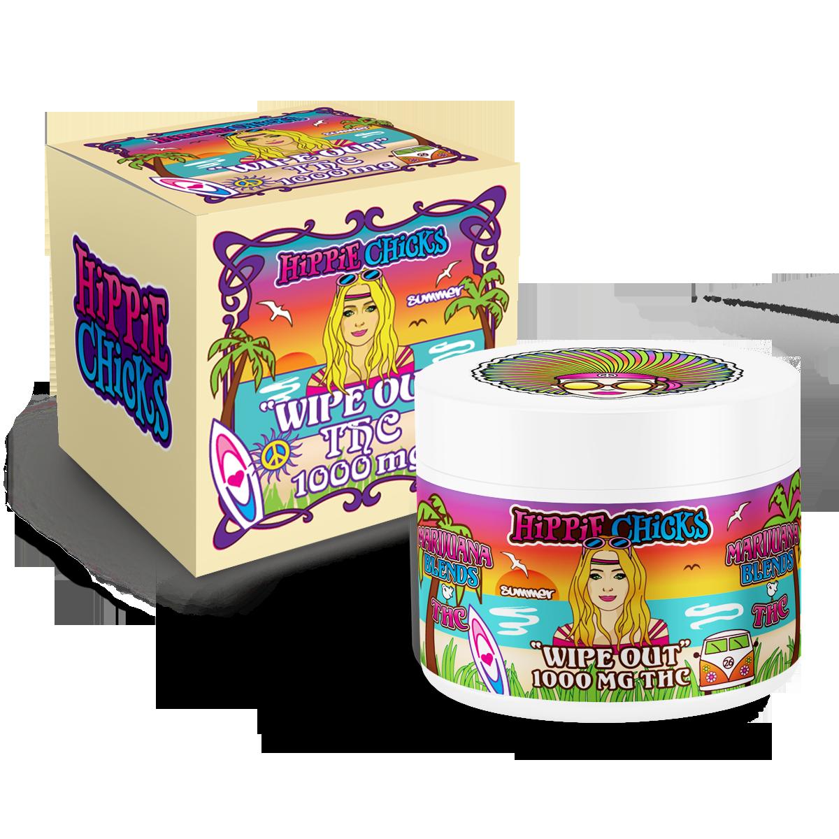 hippie-chicks-pain-relief-cream-1000mg-THC full spectrum