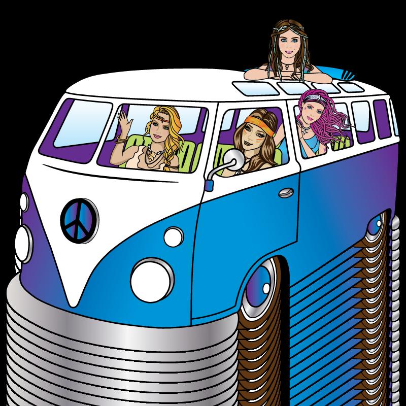 hippie chicks story_vw bus for cbd chocolate_thc chocolate_hemp oil_ hemp oil edibles
